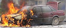 Людиновские авто горят красиво